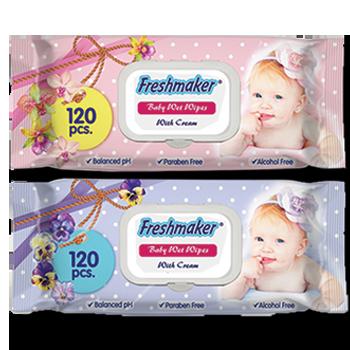 Vlažne maramice za bebe roze/plave