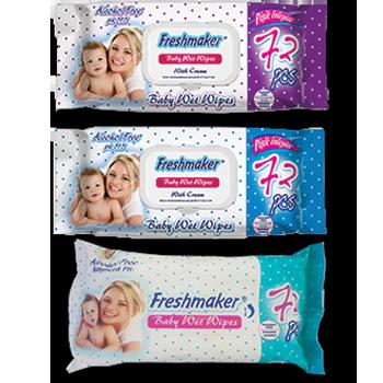 Vlažne maramice za bebe mat sa/bez poklopca