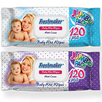 Vlažne maramice za bebe jumbo pack